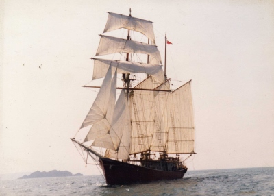 Maiden voyage of the Vanessa Ann as a sailing ship